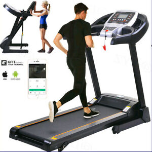 2.25HP Folding Treadmill W/ Bluetooth Speaker Running Machine Home-Gym Fitness;