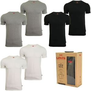 Levi-039-s-Mens-Crew-Neck-T-Shirt-039-200SF-039-2-Pack