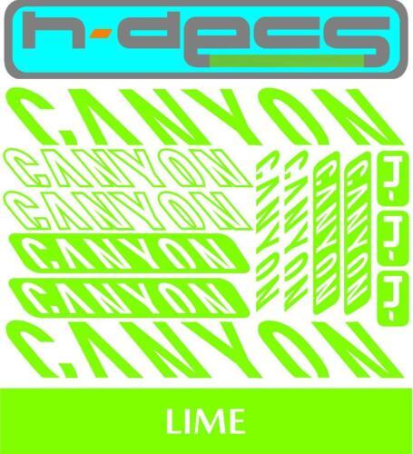 stickers, cycling, mtb, bmx, road, bike Canyon T1 Die-cut decal sheet.