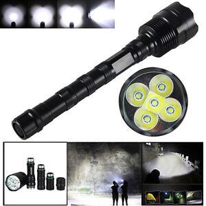Tactical-10000LM-5X-XML-T6-LED-5-Modes-Spotlight-Hunting-Flashlight-Work-Light