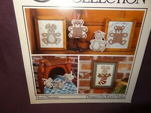 Bunny-Bear-Counted-Cross-Stitch-Pattern-Leaflet-22-1985-The-Cricket-Collection