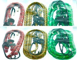"12 Bungee Cord Strap Heavy Duty Tarp Bungie Elastic Tie Down Set 12/"" 18/"" 24/"" New"