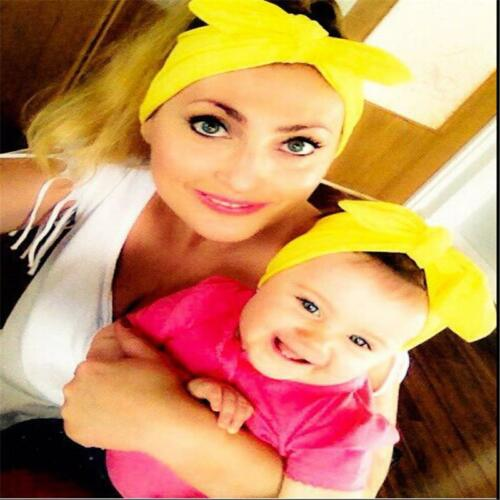New Women Lady Baby Toddler Girl Rabbit Bow Knot Head Band Hair Decoration LA