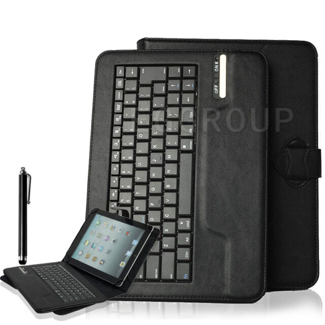 """Black Universal Bluetooth Keyboard Case Cover For 9.7"""" 10"""" 10.1"""" Inch Tablet PC"""