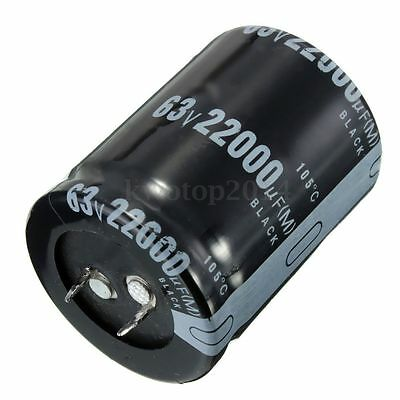 1 PCS 22000uF 63V Volt Electrolytic Capacitor Audio Amp Power Supply 35mm x 45mm