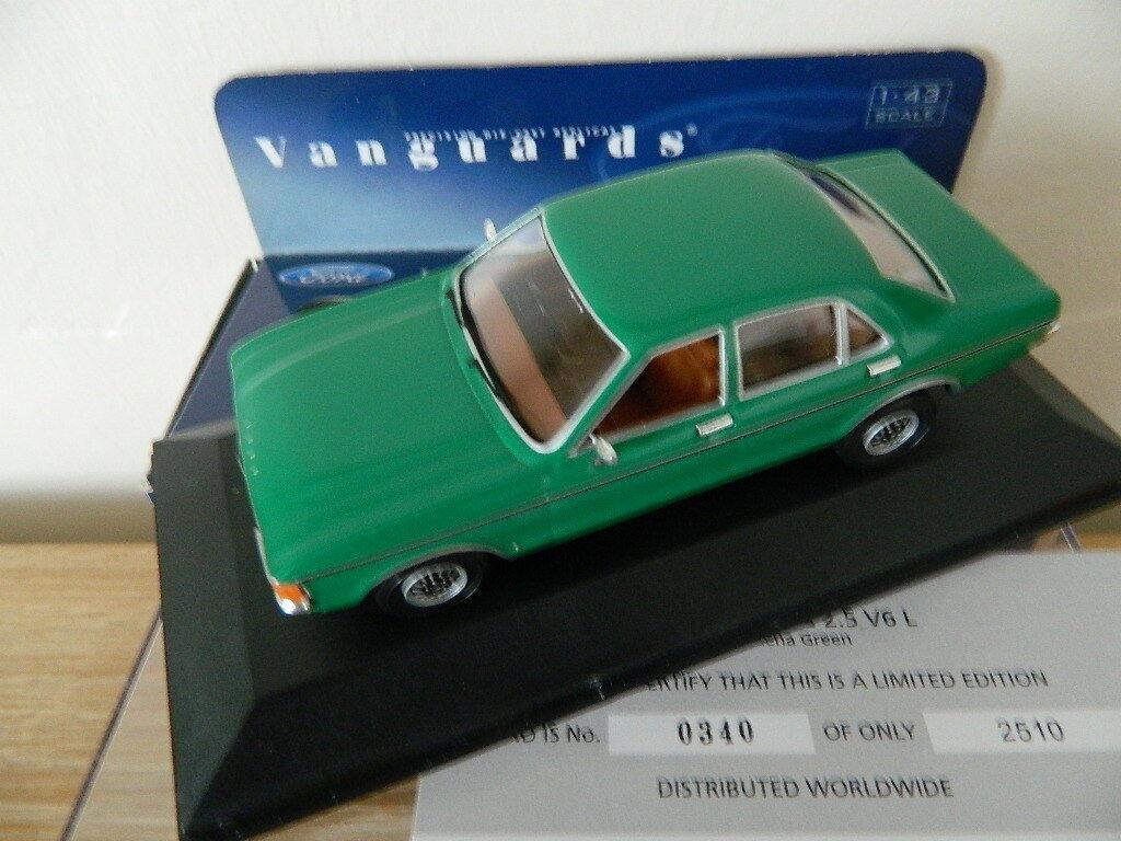 Cadeau de noel VANGUARDS CORGI VA05210 FORD GRANADA 2.5 V6L Modena Vert | Authentique