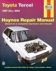 Toyota Tercel (1987-1994) Automotive Repair Manual by J. H. Haynes, Larry Warren (Paperback, 1995)