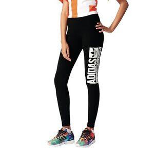Details zu adidas Originals Trefoil Leggings Fitnesshose Damen schwarz [AJ7656]