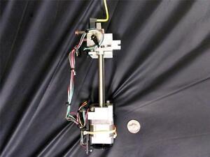 Stepper motor linear actuator leadscrew rotary shaft for Threaded shaft stepper motor