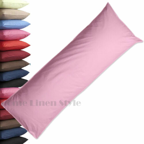 Plain Dyed Orthopaedic Bolster Pillow Case Cover Nursing Pregnancy Long ALL SIZE
