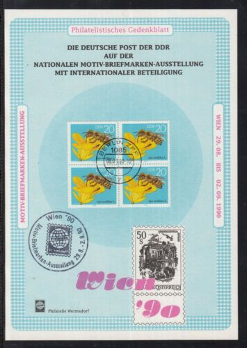 C 22 ) DDR Eastern Germany The GDR commemorative sheet Exhibition Vienna 1990