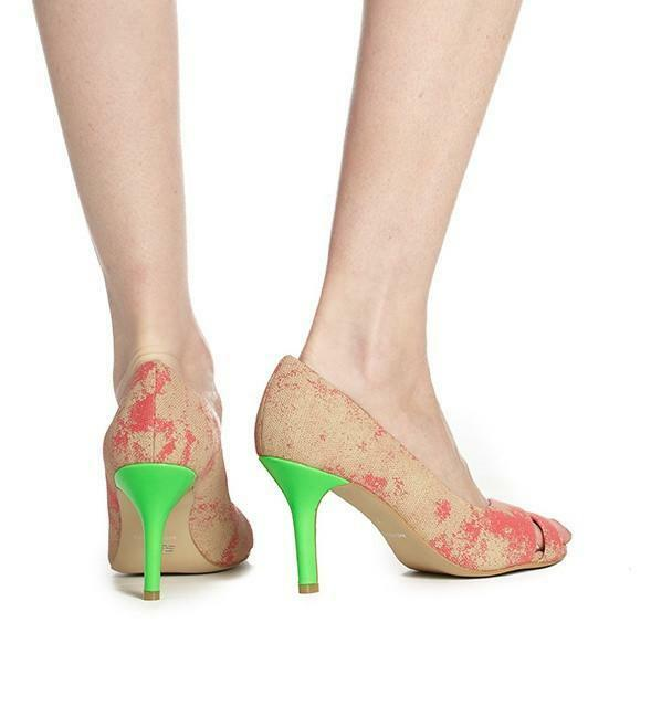 Olsenhaus Peace Heel 7, in Coral Vegan Größe 6.5, 7, Heel 7.5, 9 &10 Available 446ca4