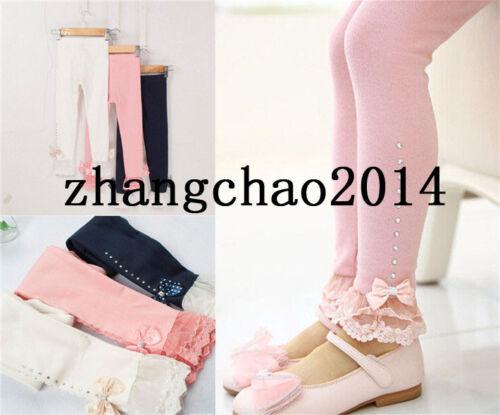 Wholesale! Design Kids Toddler Clothes Girls Bow Leggings  Pants Ages2-7Y
