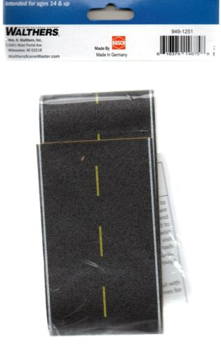 HO Scale Walthers SceneMaster 949-1251 Flexible Self Adhesive Modern Highway