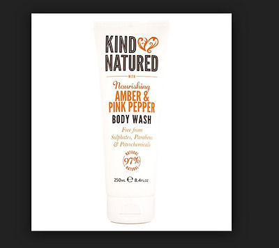 king natured amber and pink pepper body wash 250ml