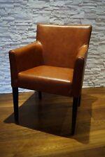 Breite Esszimmerstühle mit Armlehnen Stuhl Sessel Echt Leder stühle Lederstühle