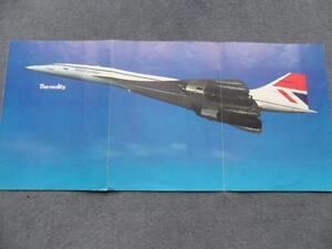 British Airways BOAC Concorde Publicity Brochure 1975 Rare