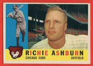 1960-Topps-305-Richie-Ashburn-EX-EX-WRINKLE-Philadelphia-Phillies-FREE-SHIP