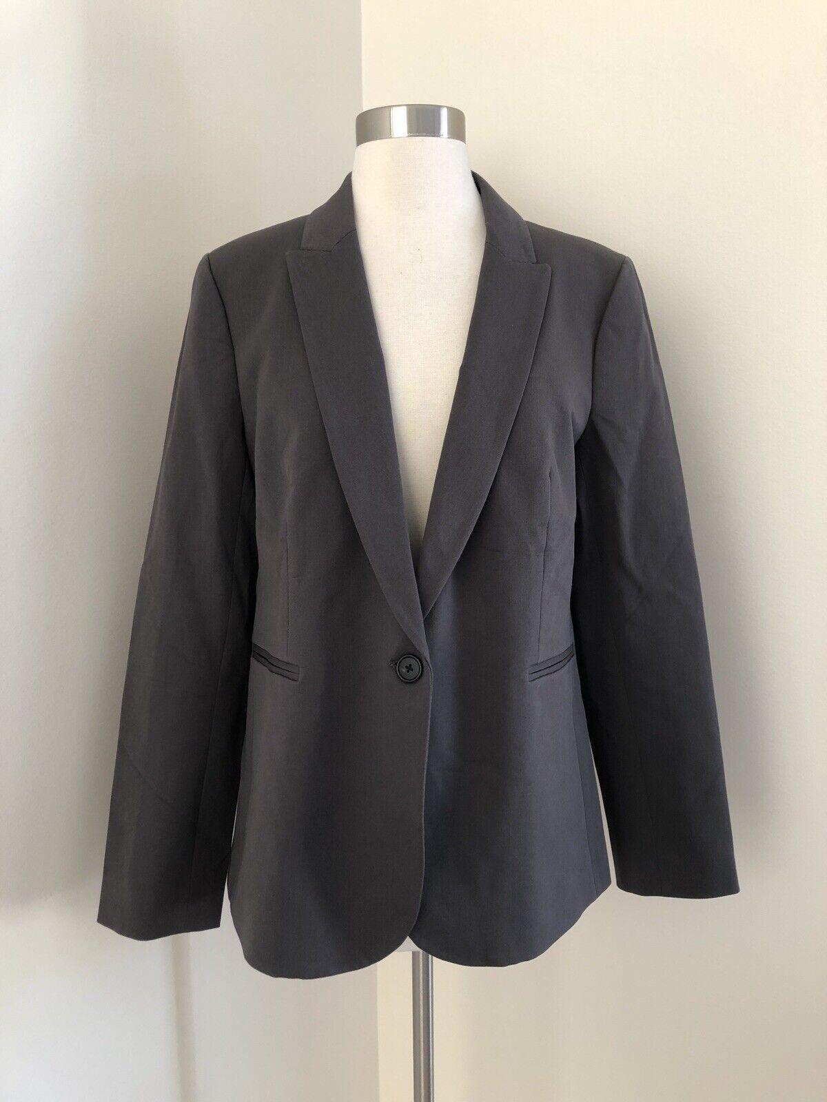 New Jcrew Parke blazer in two-way stretch cotton Grey H5513 Sz 12