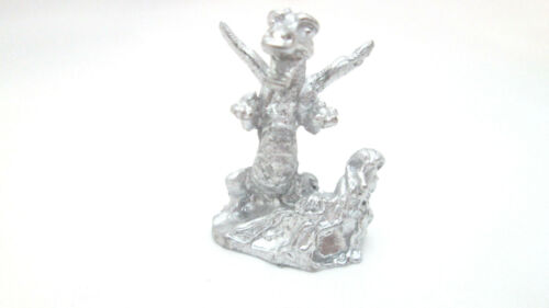 Dollhouse Miniature Unfinished Metal Rearing Dragon