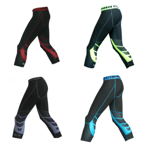 Men/'s Compression Gym Training Running Jogging Sport Shorts//Cropped-pants//Trouse