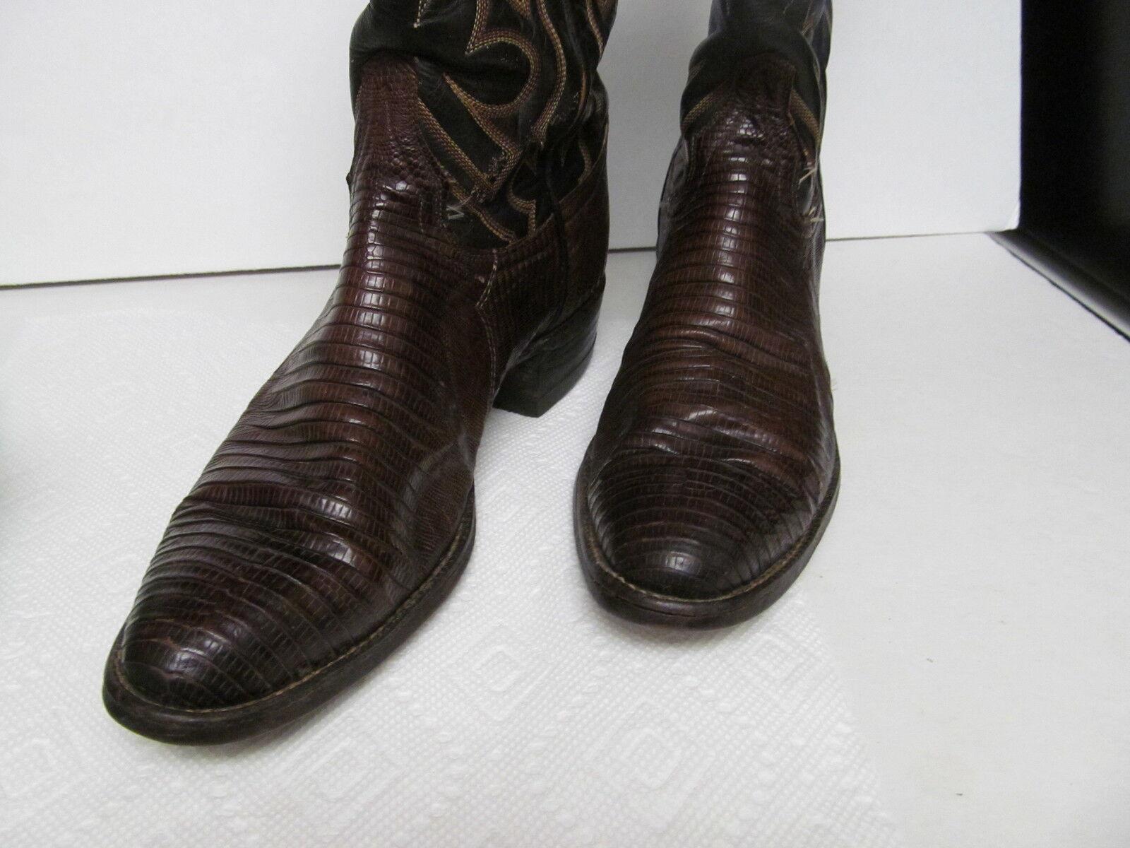 Vintage TONY LAMA Women's Lizard Western Cowboy Cowboy Cowboy Boots Brown Women's 6.5 A 1c9152