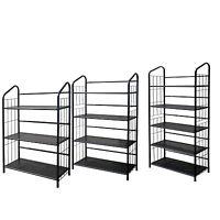 Metal Shelve Bookcase Cd & Video Tools Rack Black Finish 3 ,4 Or 5 Shelves