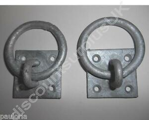 2x-Galvanised-Tie-Up-Ring-Hot-Dip-50-x-50-mm-RR06-Horse-Pony-Stable-Haynet