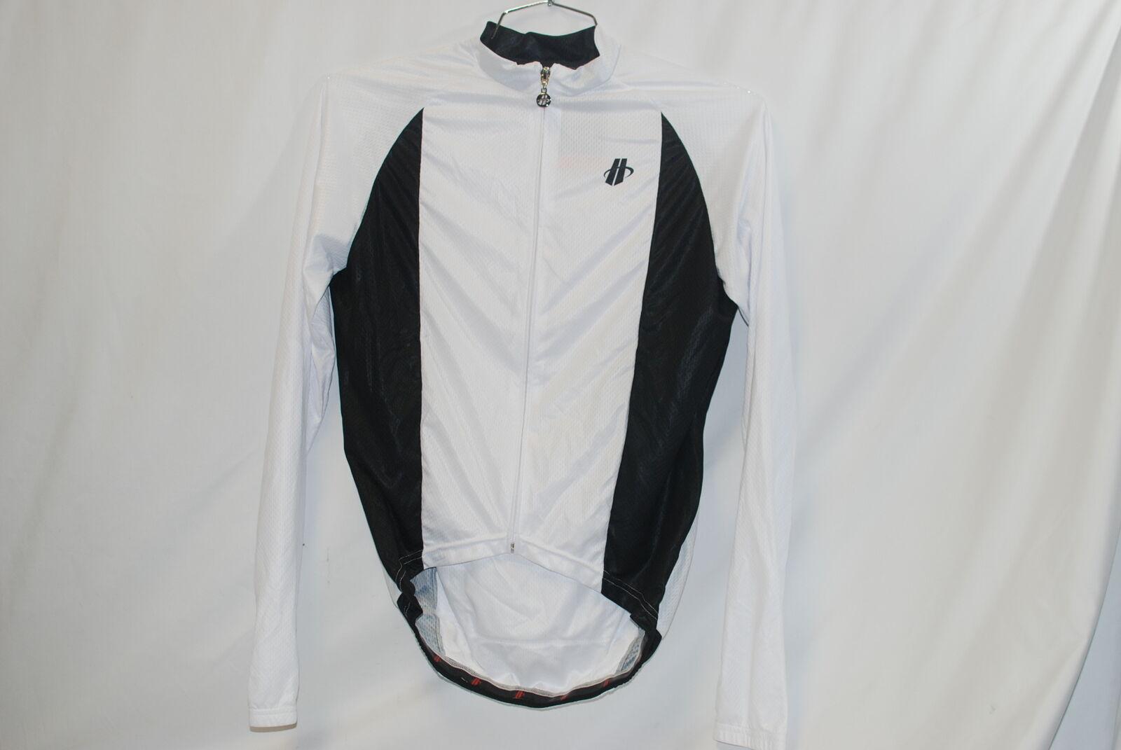 Hincapie Men's Cycling Performer LT LS Jersey Medium Long Sleeve White M NEW