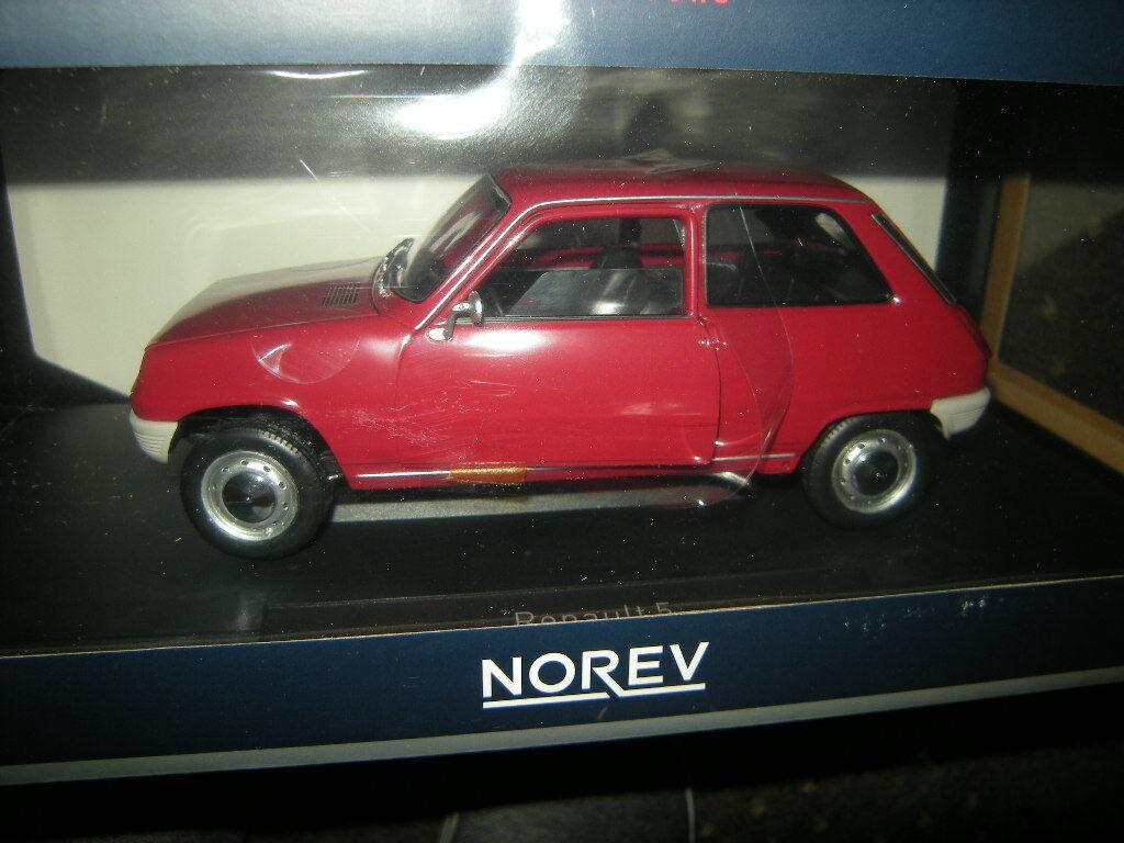 1 18 Norev Renault 5 1972 rouge ROUGE Nº 185152 in neuf dans sa boîte