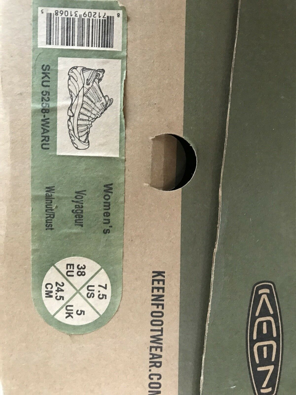 KEEN VOYAGER WOMEN'S HIKING SHOES NEW IN BOX walnut rust 7.5