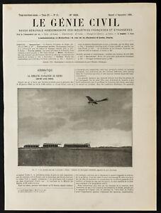 1909 , Latham Sobre Monoplano Antoinette. Aviación, Universo