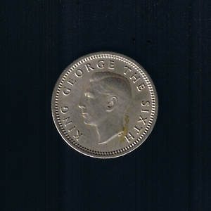 New Zealand - 1952, Threepence - King GEORGE VI