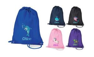 Personalised-Swimming-Bag-034-NAME-034-with-Turtle-Unicorn-Whale-Dolphin-Shark