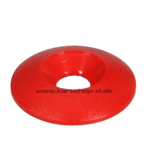 Red Rosette 4 x Go-Kart washer for Head Screws Plastic 30x8mm