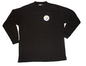 Pittsburgh steelers big and tall long sleeve shirt mock or for Big and tall mock turtleneck shirt