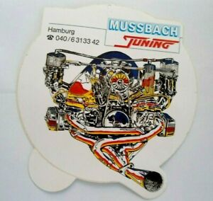Promotional Stickers Mussbach Tuning Hamburg Motor Exhaust Design Car 80er