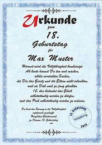 18-Geburtstagsurkunde-Urkunde-zum-Geburtstag-Geschenk-Glueckwunsch-Karte-DP-551