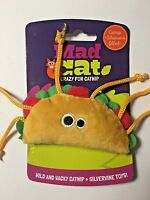 Tabby Taco Mad Cat Kitten Toy Contains Catnip & Silver Vine Cats Love It