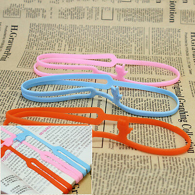 3Pcs Cute Silicone Finger Pointing Bookmark Funny Book Marker Stationery Gift