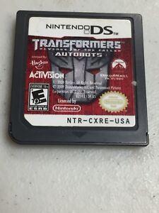 NINTENDO-DS-TRANSFORMERS-AUTOBOTS-GAME
