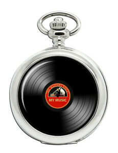 DJ-Record-Red-Label-Pocket-Watch