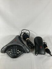 Polycom Voicestation 300 Analog Conference Speaker Phone With Wall Module Tested