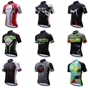 2019 Men New Short Sleeve Bicycle Shirt Cycling Bike Top Clothing Cycling Jersey