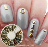 12 Muster Strassstein Nagel Glitter Sticker Rad Straßsteine UV Gel Nail Art Stud