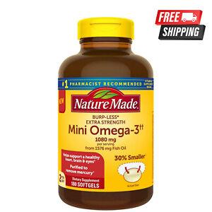 Nature Made Burp-Less Extra Strength 1080mg Mini Omega 3 Fish Oil - 180 ct.