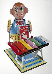 Monkey-Playing-Xylophone-Large-Clockwork-Wind-Up-Tin-Toy