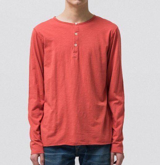 Nudie Hector Henley Camouflage Shirt Aurora rouge 131557