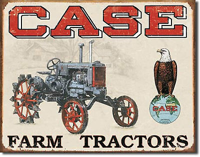 Case Farm Tractors Metal Sign Tin New Vintage Style USA  #1230