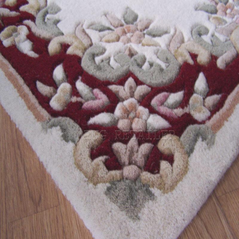 INDIAN Aubusson Panna Lana Rosso Felpe tradizionali Tappetini 120x180cm 120x180cm 120x180cm cinesi design 490f39